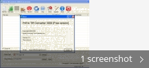 Screenshot collage for Pdf to Tiff Converter 3000