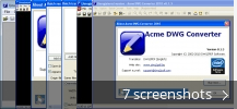 Screenshot collage for Acme DWG Converter
