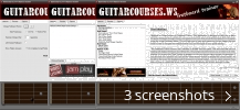 Screenshot collage for GuitarCourses.ws Fretboard Trainer