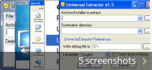 Screenshot collage for Universal Extractor