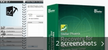 Screenshot collage for Stellar Phoenix Recovery for QuickBooks