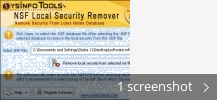 Screenshot collage for SysInfoTools NSF Local Security Remover