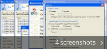 Screenshot collage for Any PDF to DWG Converter