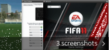 Screenshot collage for FIFA 11