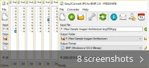 Screenshot collage for Easy2Convert JPG to BMP