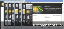 Screenshot collage for Movavi PowerPoint to Video Converter