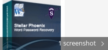 Screenshot collage for Stellar Phoenix Word Password Recovery