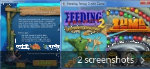 Screenshot collage for Feeding Frenzy with Zuma