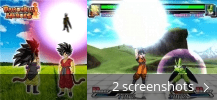 Screenshot collage for Dragonball Heroes