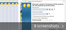 Screenshot collage for Steganos Password Manager