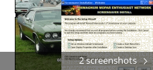 Screenshot collage for Plymouth Barracuda Screensaver