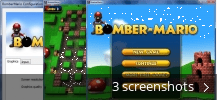 Screenshot collage for Bomber Mario