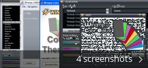 Screenshot collage for Winamp Color Themes Pack