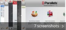 Screenshot collage for Parallels Desktop