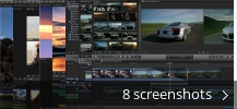 Screenshot collage for Final Cut Pro