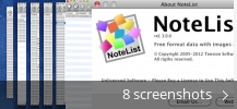 Screenshot collage for NoteList