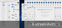 Screenshot collage for Sweet MIDI Player