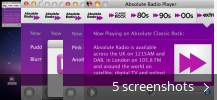 Screenshot collage for Absolute Radio Player