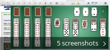 Screenshot collage for Solitaire Greatest Hits